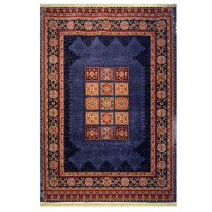 فرش عشایری زمینه سرمه ایی کد H50205