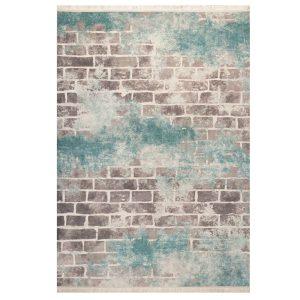 فرش فانتزی طرح دیوار آجری خاکستری کد100410