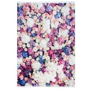 فرش فانتزی طرح گل تمام رنگ کد100445