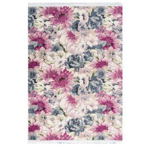 فرش فانتزی طرح گل تمام رنگ کد100446