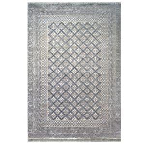 فرش مدرن زمینه خاکستری دودی کدS700