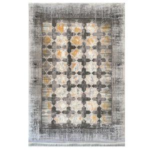 فرش مدرن زمینه طوسی دودی کدS701