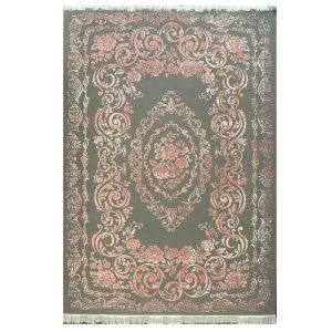 فرش مدرن زمینه طوسی گلبهی کد S708