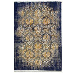 فرش مدرن سرمه ایی طلایی کدS703