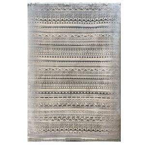فرش مراکشی زمینه دودی کرم کد S841