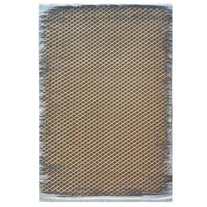 فرش مراکشی زمینه طلایی دودی کد 100479