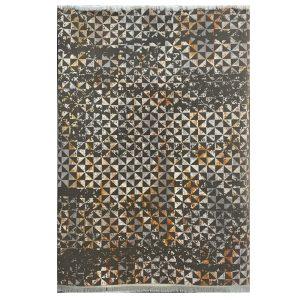 فرش مراکشی زمینه طوسی نقره ایی کد 100486