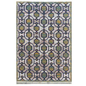 فرش مراکشی نقره ایی کرم کد 100483