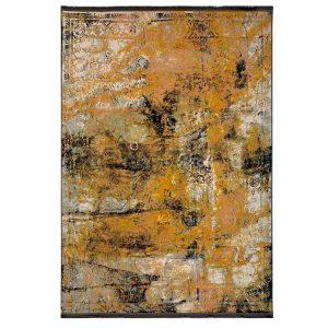 فرش وینتیج زمینه طلایی نارنجی کدk120028