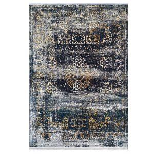 فرش وینتیج سرمه ایی طلایی کدk50013