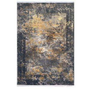 فرش وینتیج 500شانه خاکستری آجری کدk50014