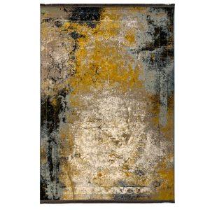 فرش وینتیج 1200شانه طلایی کرم کدk120017
