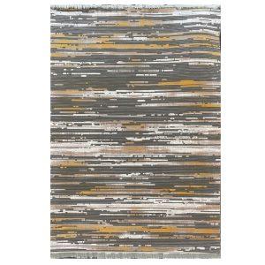 فرش پتینه خاکستری طلایی کدS916