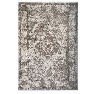 فرش کهنه نما خاکستری کرم کدk120041
