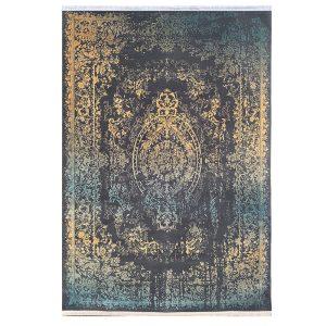 فرش کهنه نما یشمی طلایی کدk50019