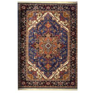 فرش گبه زمینه آبی کاربنی کد H50202