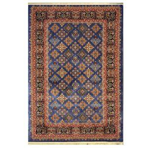 فرش گبه زمینه آبی کاربنی کد H50206