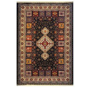 فرش گبه زمینه ذغالی کد H50204