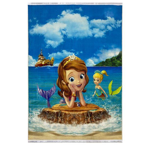 فرش کودک طرح عروس دریایی