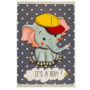 فرش کودک طرح فیل کوچولو کد1013