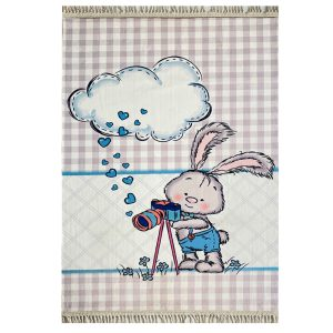 فرش کودک اختصاصی طرح خرگوش عکاس کد1015