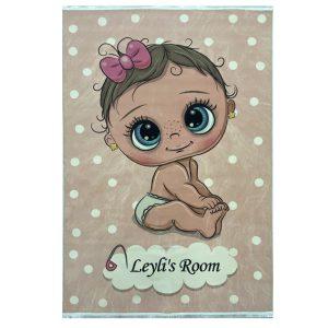 فرش کودک اختصاصی طرح نوزاد
