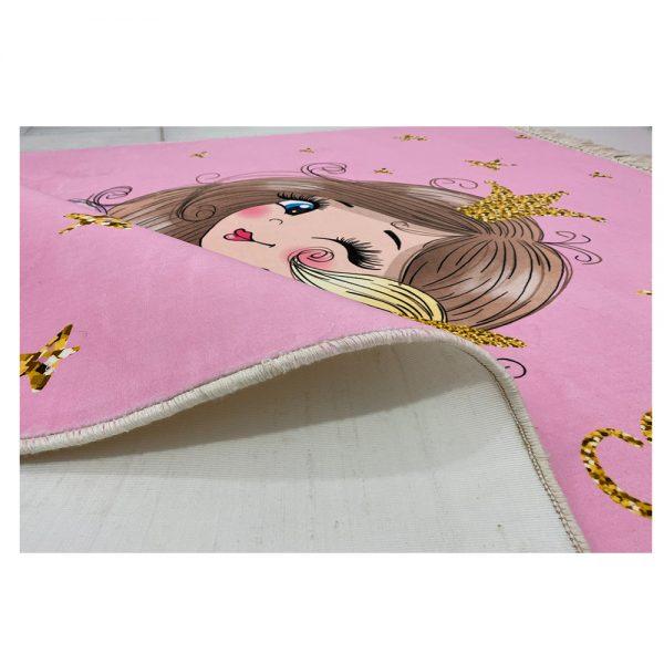 فرش کودک چاپی دختر و اسب شاخدار