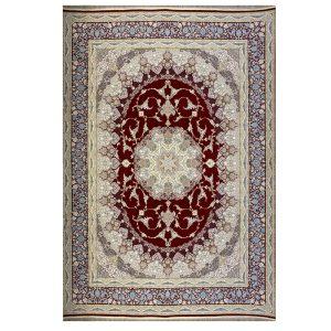 فرش ماشینی 1500 شانه طرح نائین لاکی