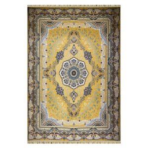 فرش ۱۲۰۰ شانه زمینه طلایی کدSH-1207