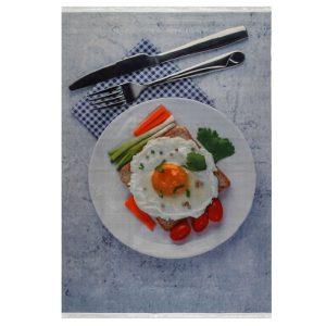 فرش آشپزخانه طرح صبحانه کد 101400