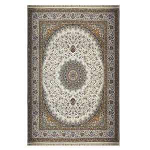 فرش ماشینی ۱۲۰۰شانه زمینه کرم کدSH-1242