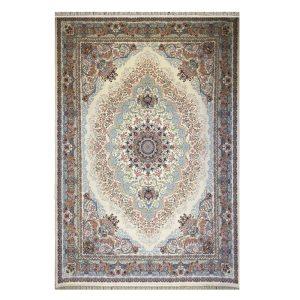 فرش ماشینی ۱۲۰۰شانه زمینه کرم کدSH-1248