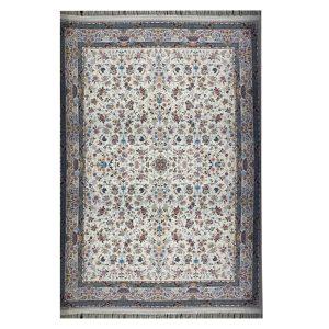 فرش ماشینی ۱۲۰۰ شانه زمینه کرم کدSH-1238