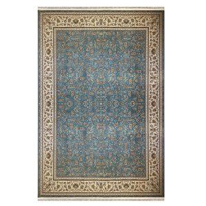 فرش ماشینی 1500 شانه زمینه آبی SH-1523