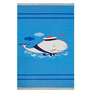فرش کودک اختصاصی چاپی طرح دلفین کد1036