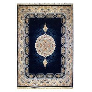فرش ۱۲۰۰شانه زمینه سرمه ای کدSH-1244