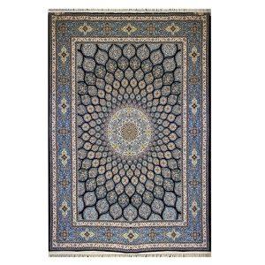 فرش ۱۲۰۰شانه زمینه سرمه ای کدSH-1254