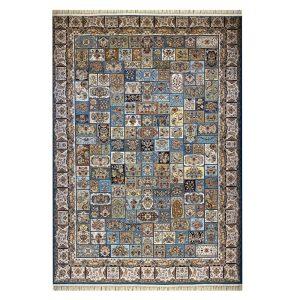 فرش ۱۲۰۰ شانه زمینه آبی کدSH-1228