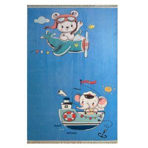 فرش کودک چاپی فیل ملوان خرس خلبان کد1068